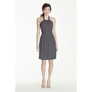 NWT DAVID'S BRIDAL | Lace Halter Dress Style 17020